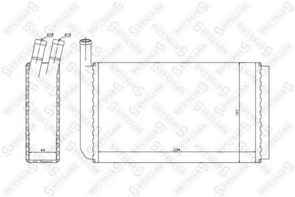 Размер теплообменника печки ауди-80 теплообменник типы вода