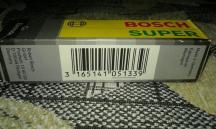 Cвечи зажигания BOSCH SUPER ( Германия ) - 4 шт