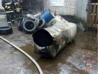 На Минской СТО прогремел взрыв