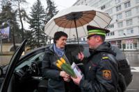 ГАИ Минска проводит акцию к Дню 8 Марта