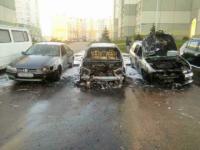 В ночь на 3 мая в Минске сгорело три автомобиля