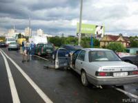 В Минске по вине пьяного водителя пострадало 4 автомобиля