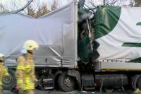 В Германии при столкновении грузовиков погиб белорус