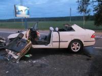 В аварии на МКАД серьезно пострадали два человека